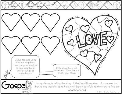 ***FREE*** Luke 10.25-37 Parable of the Good Samaritan Coloring Page Catholic Kids
