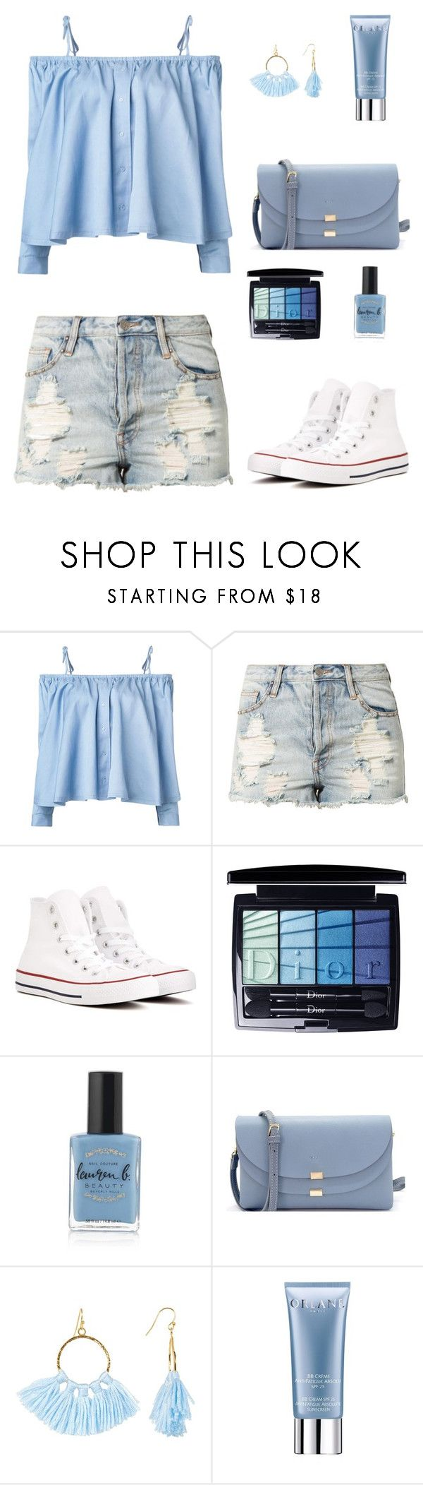 """""""Summer Fun"""" by marion-fashionista-diva-miller ❤ liked on Polyvore featuring Sandy Liang, Evil Twin, Converse, Christian Dior, Lauren B. Beauty, Taolei and Orlane"""