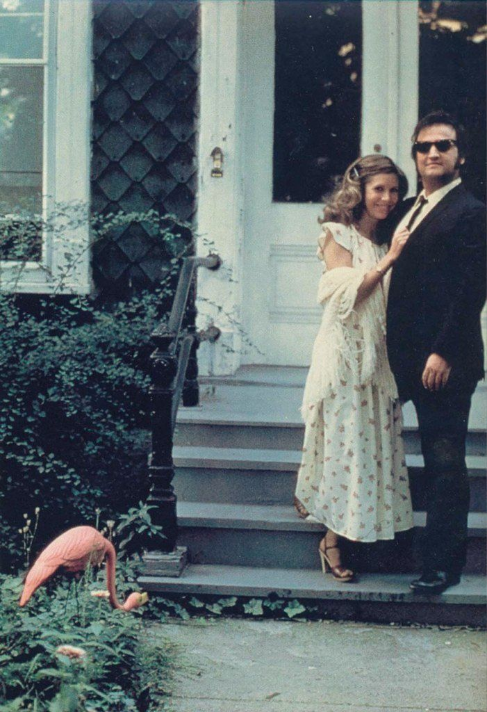 Carrie Fisher and John Belushi on the set of THE BLUES BROTHERS (1980). - Imgur