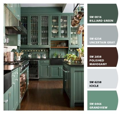 Cabinet color by Chip It by Sherwin Williams - what a great idea!!
