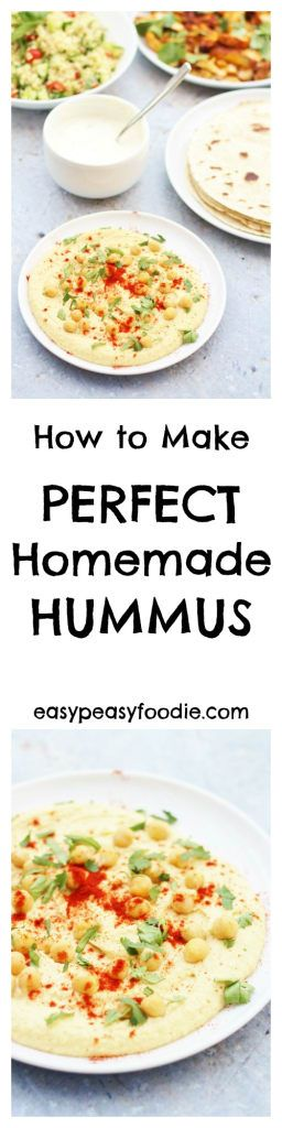 For the longest time, a Perfect Homemade Hummus recipe has eluded me…try as I might, I just haven't been able to get the recipe tasting just right, and it has never been quite smooth enough – but not any longer. I have finally discovered the secret to perfect homemade hummus – and it's waaay better than the hummus you get in the shops! #hummus #houmous #chickpeas #tahini #dip #froothie #blender #vegetarian #vegan #easyrecipes #easypeasyfoodie