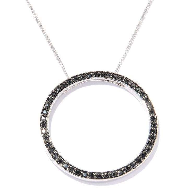 Sterling Silver 1ct Spinel Open Circle Necklace Women S