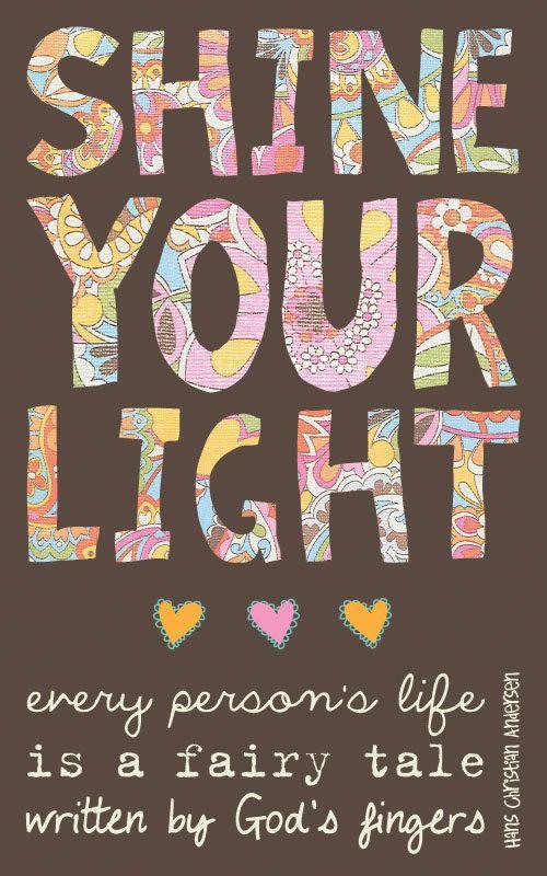 Faith Based Art, Inspirational Art, Shine your light, 5x8 art print on wood. $16.00, via Etsy.