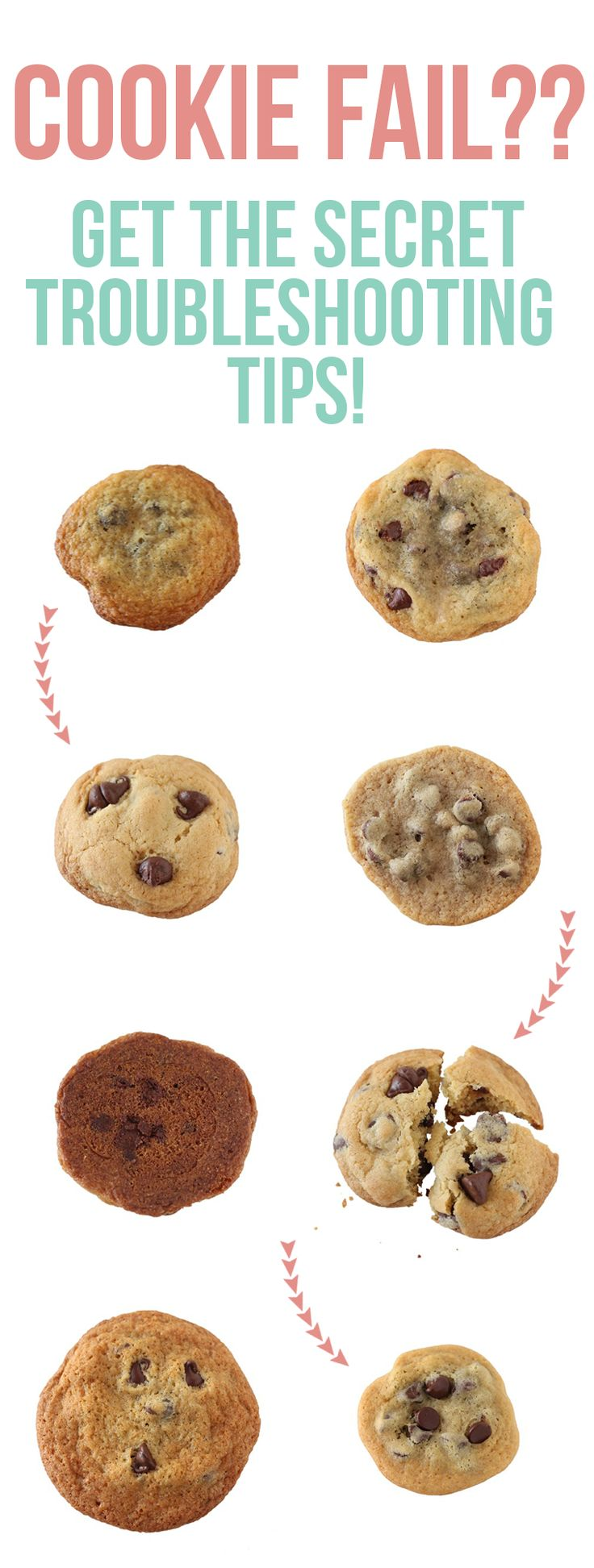 Fix cookies that are too flat, thick, greasy, crumbly, hard, or blah! FINALLY I can have perfect cookies!