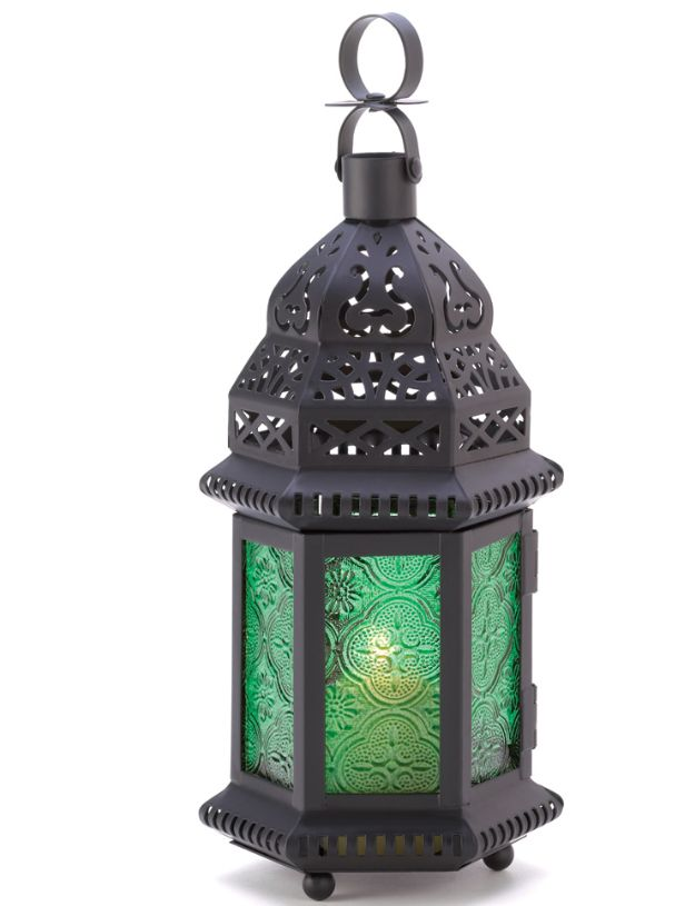 Green Glass Moroccan Lantern https://www.multiforsales.com/en/decoration/6839-green-glass-moroccan-lantern.html