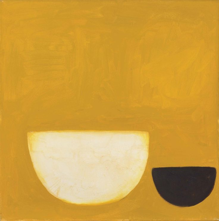 William Scott - Black and White on Yellow, 1969-70. Oil on canvas