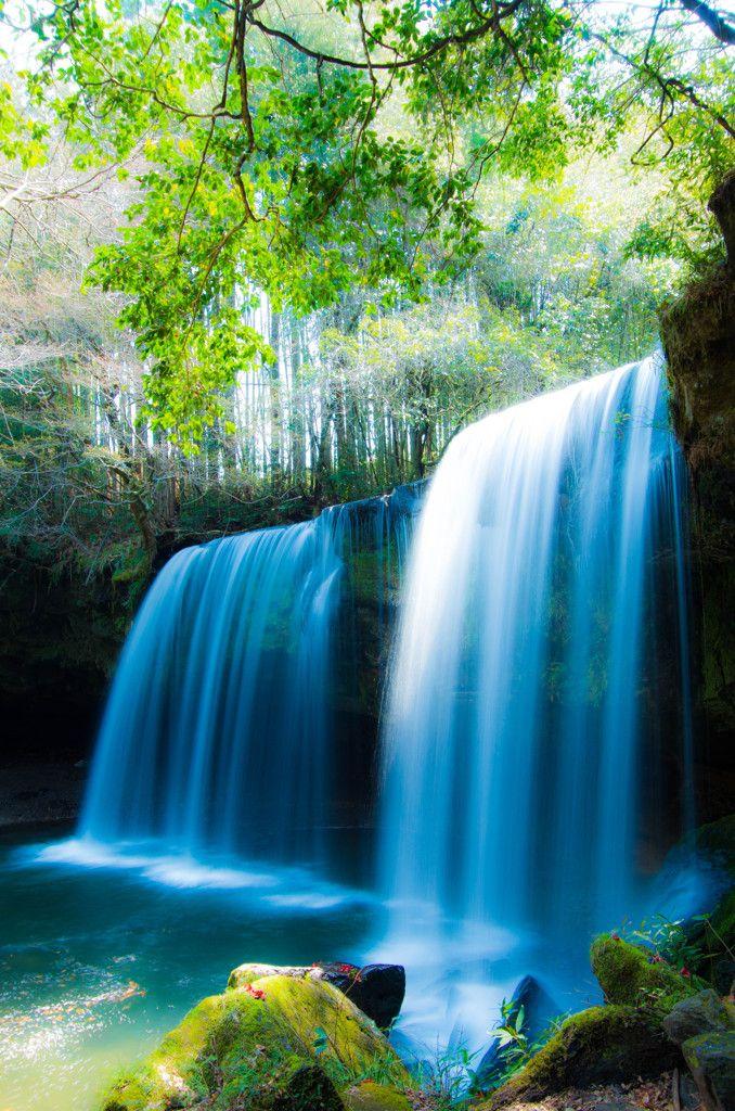 Nabega-taki Falls, Kumamoto, Japan 鍋ヶ滝