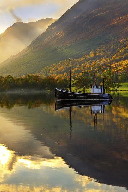 Autumn Lake, West Highlands, Scotland: West Highlanders, Scottish Highlanders, Loch Lochi, Highlanders Scotland, Beautiful Places, Boats, Places I D, Autumn Lakes, Photo