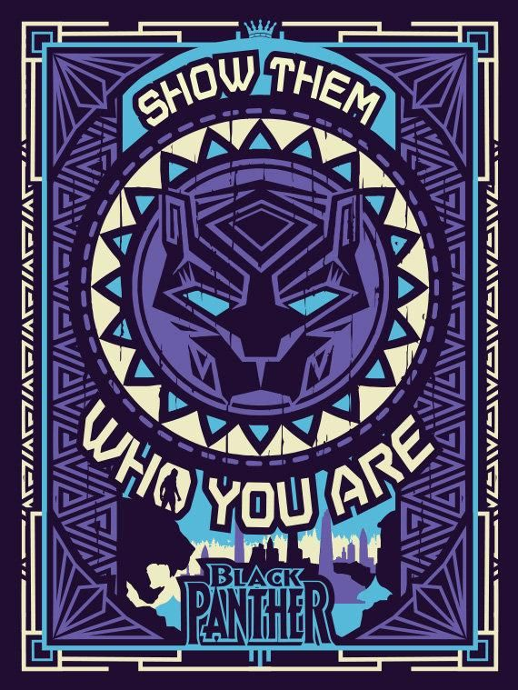 Marvel Black Panther Show Them Who You Are Poster 12x16 Etsy Black Panther Marvel Black Panther Map Art Print Gucci black panther wallpaper
