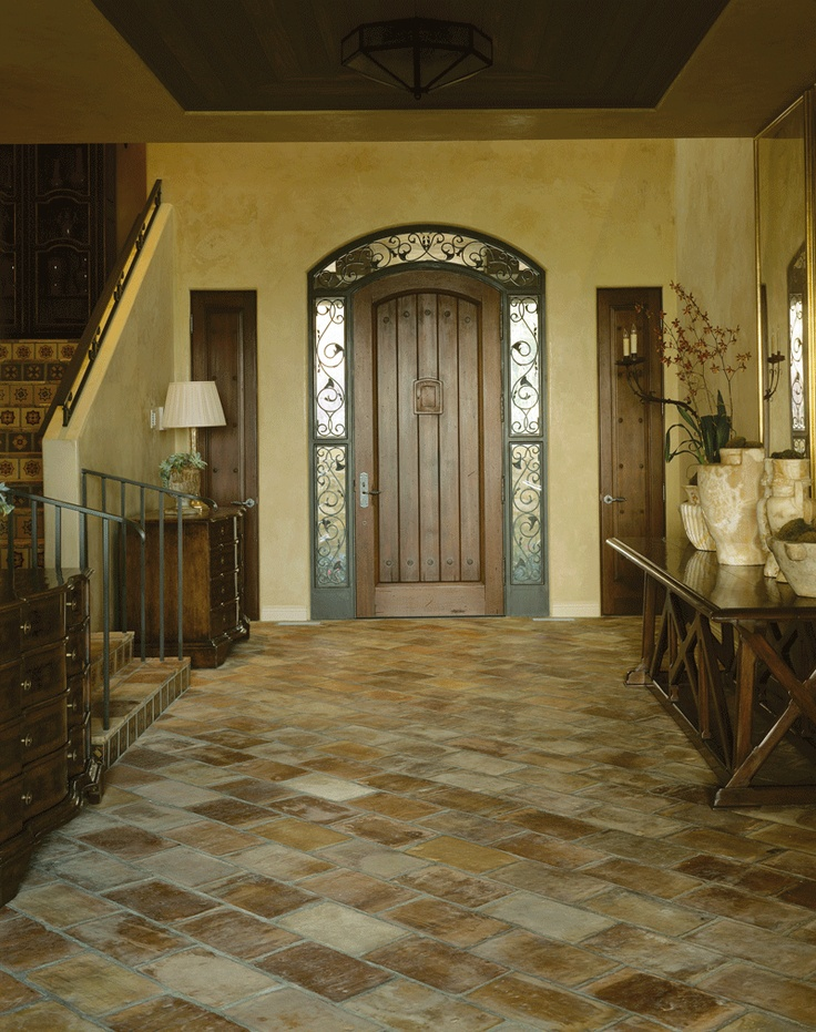 Elegant Foyer Tiles : Ann sacks antique parefeuille quot terra cotta field