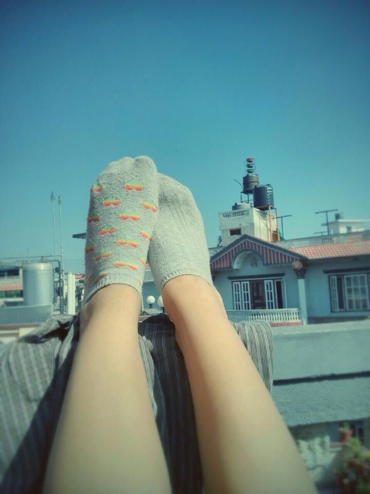 Different socks different views.