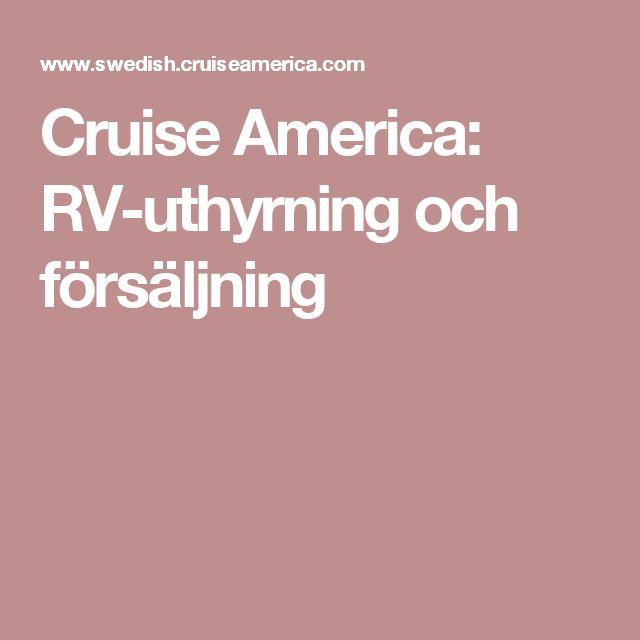 Cruise America: RV-uthyrning och försäljning