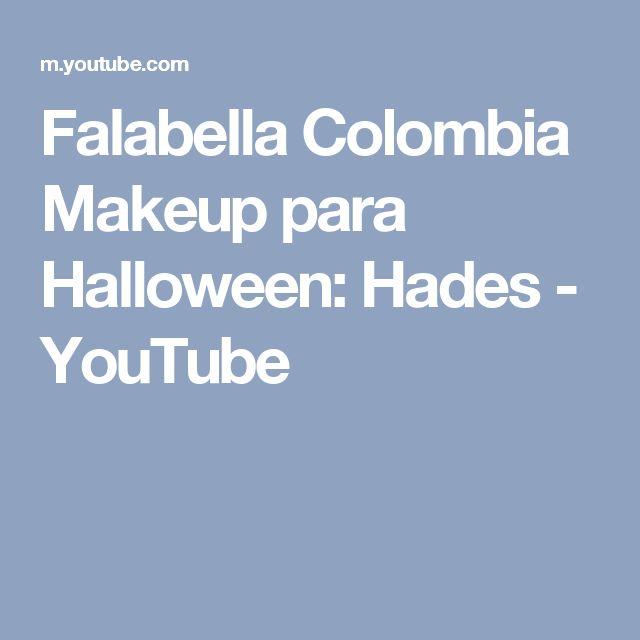 Falabella Colombia Makeup para Halloween: Hades - YouTube