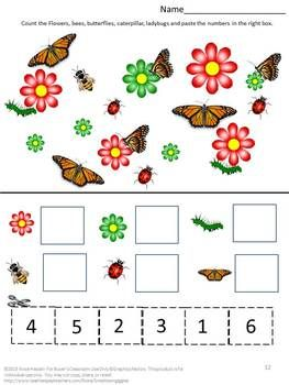 Counting Skills Worksheets, Pre-K, K, 1st Grade, Special Education, Autism consists of: Count Apples Match the Number Counting and Matching Amount Same Amount Butterfly Counting Multiple Object Counting  Counting by twos Putting in order Which is more? Which is less?