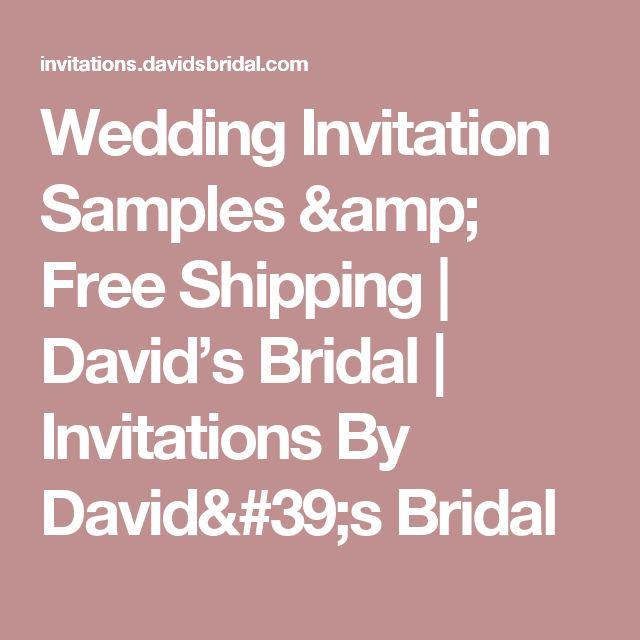 Wedding Invitation Samples U0026 Free Shipping | Davidu0027s Bridal | Invitations  By Davidu0027s Bridal