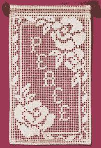 Filet Lace or net darning