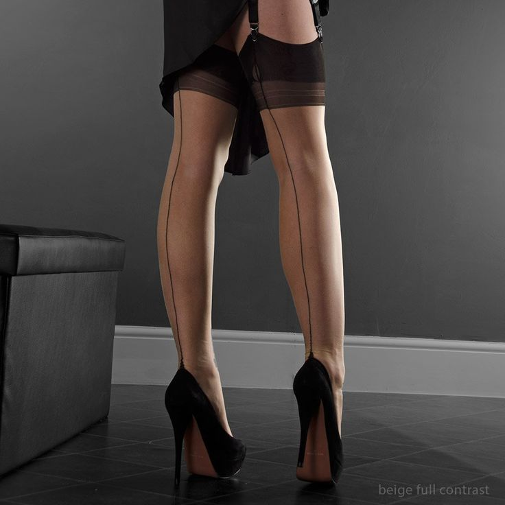 Point Heel with Red Seam - Gio Stockings