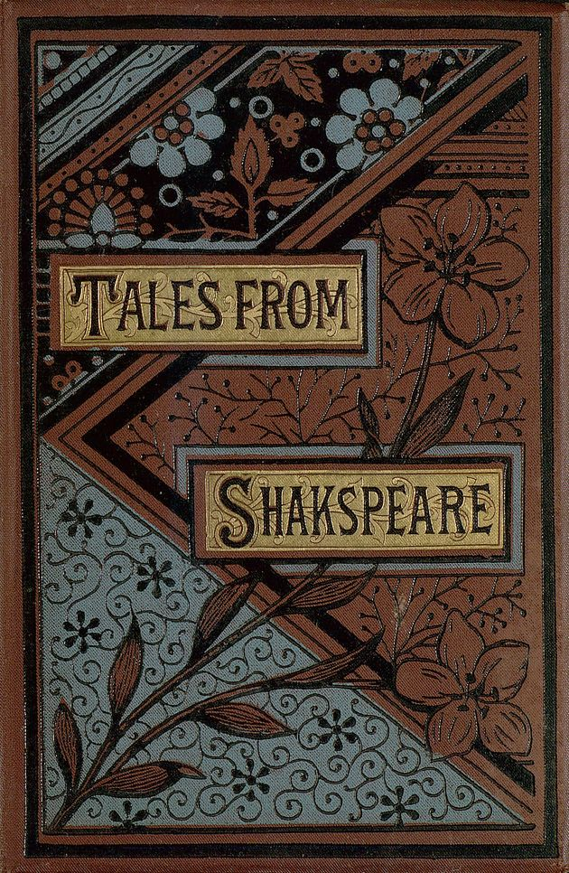 Tales from Shakespeare [beautiful cover with blue and brown patterns of flowers]