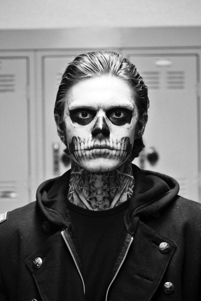 halloween schminke ideen männer skelleton makeup (Cool Costumes)