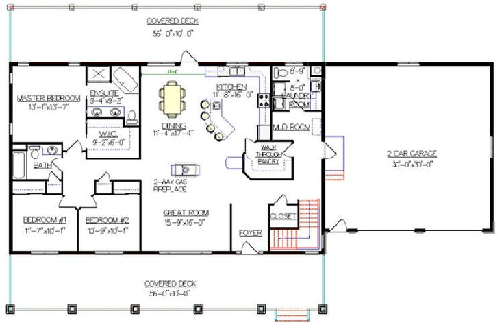 Bungalow with walkout basement plan 2011545 really like House plans with garage in basement