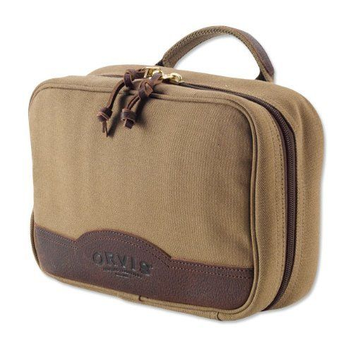 Bullhide-and-canvas Hanging Travel Kit Orvis. $69.00