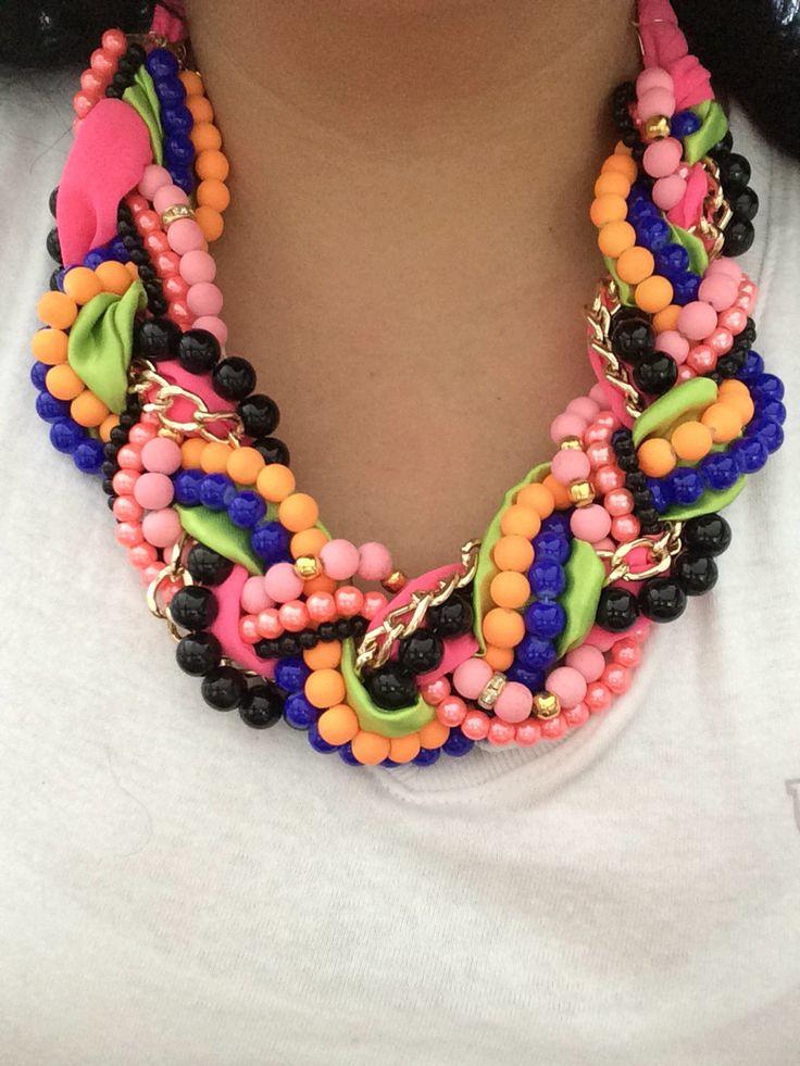 Collar trenzado bisutería fina diseño de accesorios mazo collares collares grandes An sauceda mayoreo Whatsapp 6444089134