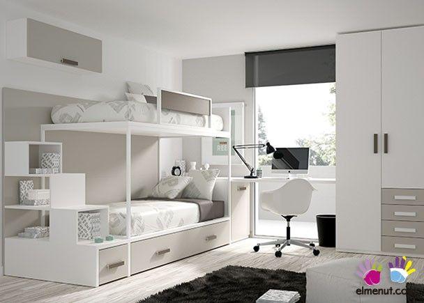 Habitación Infantil Litera Armario Recto Cajones                                                                                                                                                                                 Más