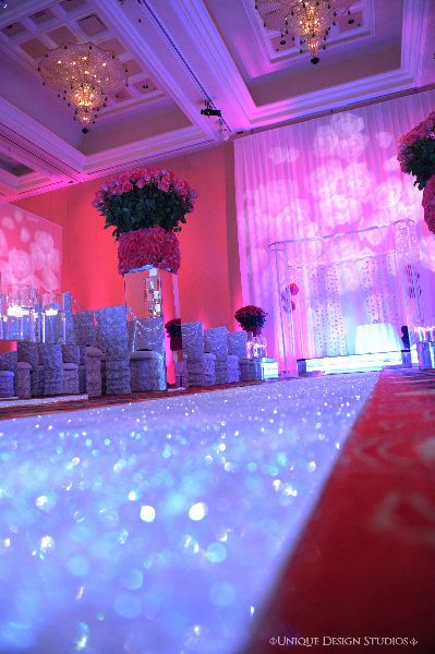Keela and Marion's bling aisle runner. Destination wedding planning and design by Tiffany Cook Events