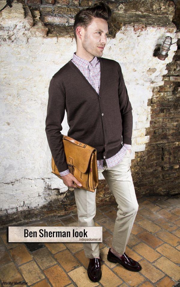 """Het+is+alweer+de+derde+dag+van+de+Fashion+Style+Radio+campagne.+Kleed+je+vandaag+als+de+Engelse+Ben+Sherman.+Met+de+herfst+in+aantocht+mogen+de+bruine+en+rode+tinten+weer+uit+de+kast.+Draag+onder+een+dun+bruine+Profuomo+cardigan+een+gestreept+overhemd+van+Ben+Sherman.+Het+overhemd+<a+href=""""http://www.indepaskamer.nl/day-ben-sherman/#more-""""+""""+class=""""more-link"""">more+"""