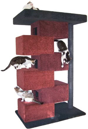 Cool Cat Tree Plans: Build a HUGE cat tower with ease.