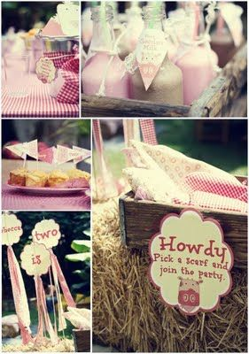 Farmyard birthday party idea. James' 2nd birthday was a farm party, never thought of it for a girl, but this is cute. Maybe we will make it a tradition and Morgan can have one too.
