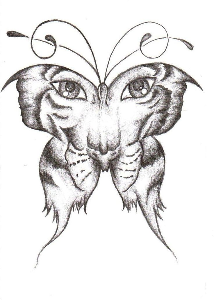 Have a tattoo like this already - Tiger/Butterfly   Tiger = Passion, Pride, Courage, Strength, skill and beaurty   Butterfly = beauty and grace/symbol of change and metamorphosis/freedom and independence