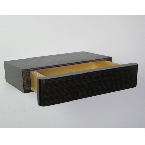 Pacco Floating Drawer in Dark Walnut Stain by MochaUK on Etsy, £68.00