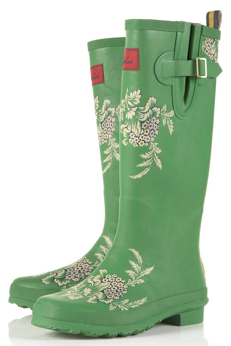 JOULES Floral Print Wellies - Topshop