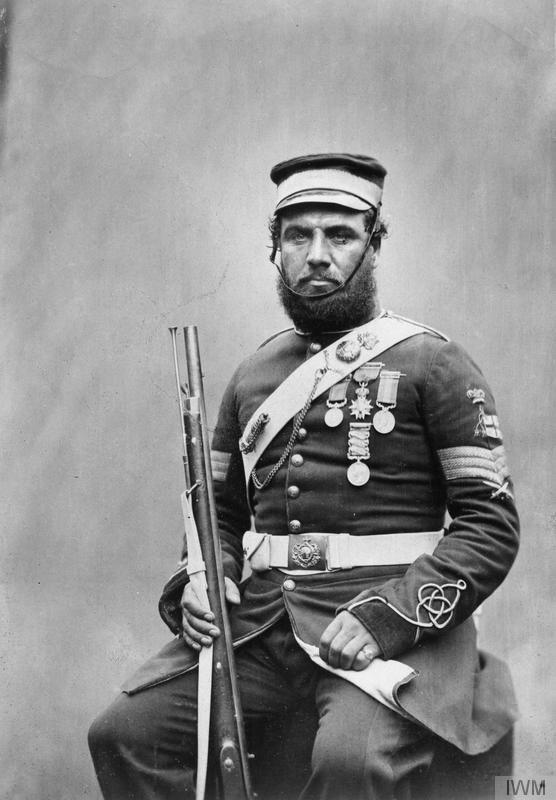 Crimean War veteran Color Sergeant Joseph John Stanton, Royal Sappers and Miners. © IWM (Q 71640)