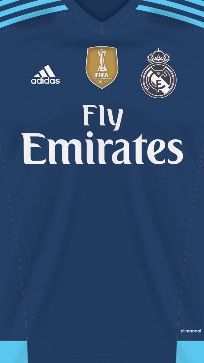 Blue real madrid shirt