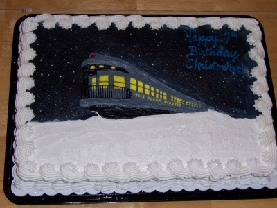 Polar Express Cake By mocakes on CakeCentral.com