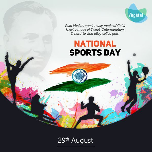 #Vegetal #PersonalCare wishes you the great #NationalSportsDay. Keep up the spirit of sportsmanship.