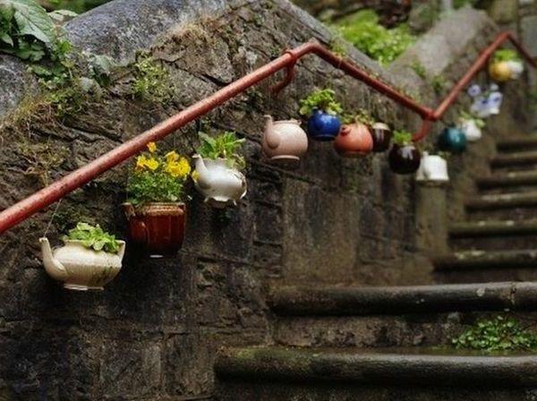 Gelander Selber Bauen Eigenartige Treppengelander Aus Holz Garten Deko Selbermachen Garten Gartendekoration