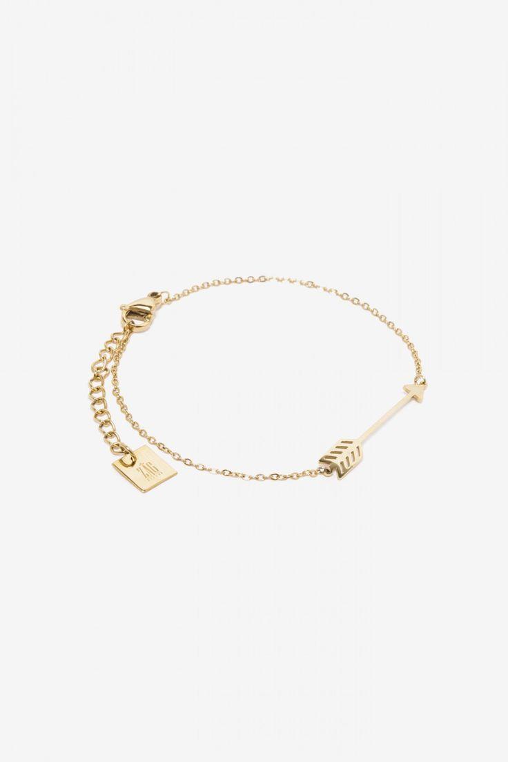 Zag Bijoux armband met pijl goud