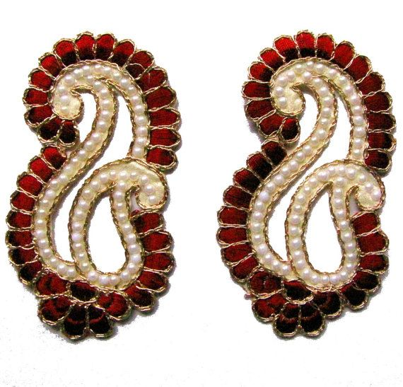 Red Color Indian #Appliques #Patches for #Wedding by Shoppingover
