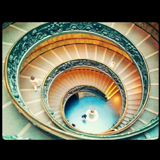 "@giudi_giu's photo: ""#Spiral #stairs by #GiuseppeMomo #MuseiVaticani #Roma #art #architecture"""