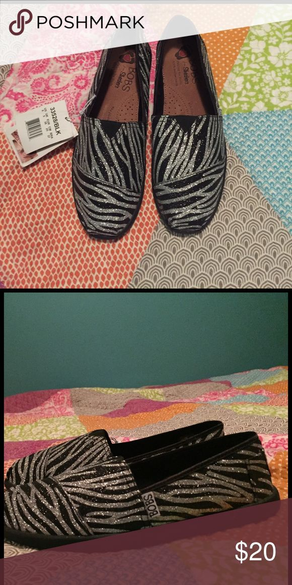 Zebra BOBS Super cute Glittery zebra BOBS Shoes Flats & Loafers