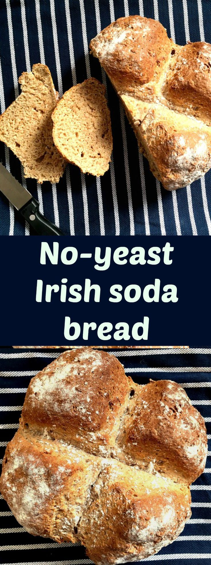 No-yeast Irish soda bread, a crusty bread that needs no kneading. If you love the idea of freshly-baked bread but you have no time to waste with proving, then this is a recipe for you.