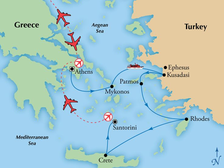 10 Day Athens & Santorini with 4 Day Iconic Aegean Cruise,Greece Tours, Greece Vacation - Virgin Vacations