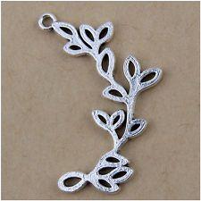 20 листьев тибетские серебряные подвески подвески ювелирные изделия делая выводы EIF0780