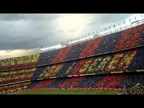 Himno del Barça y mosaico 21/04/2012