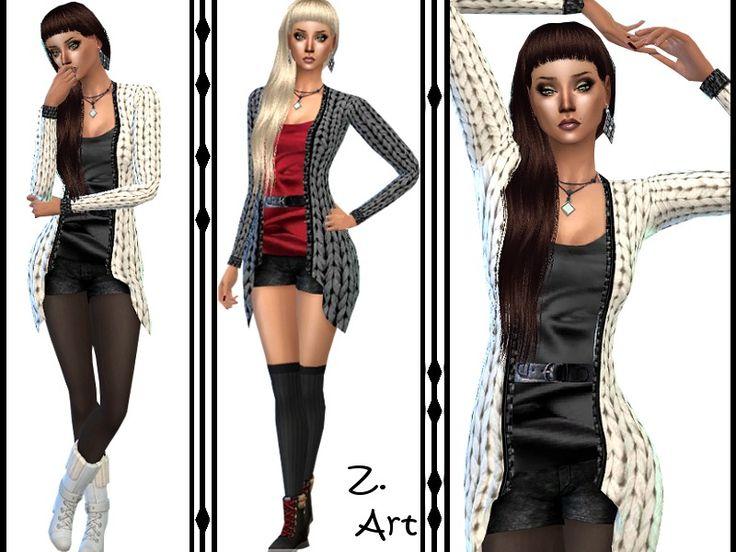 Populaire 151 best Vêtements Femmes Sims 4 approuvés images on Pinterest  RG73