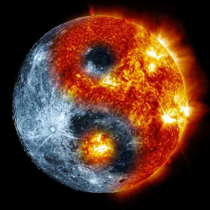 moon sun yin yang by de3euk on deviantart fondo de