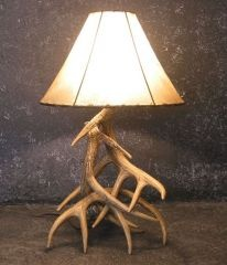 Whitetail Antler lamp by Cast Horn Designs